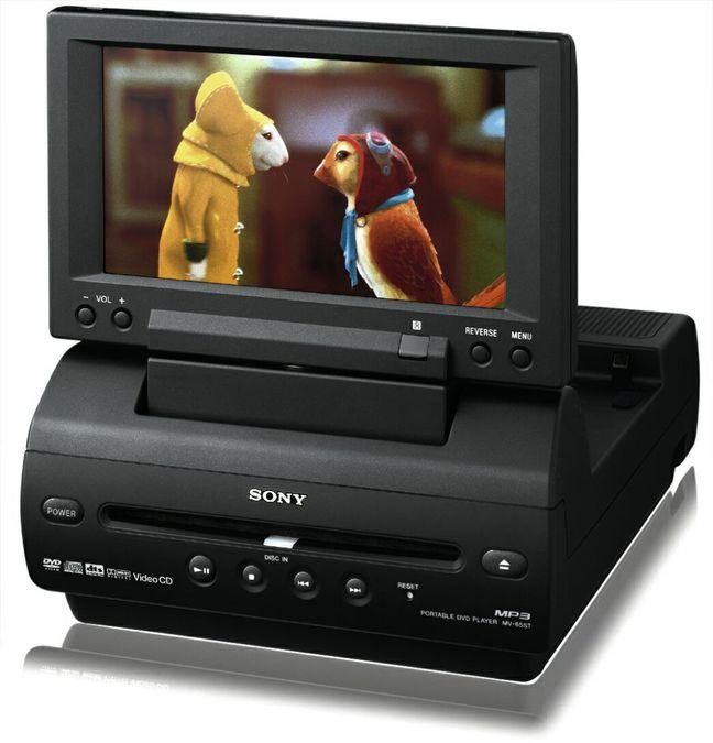 sony mv 65 st tragbarer dvd player tests erfahrungen im. Black Bedroom Furniture Sets. Home Design Ideas