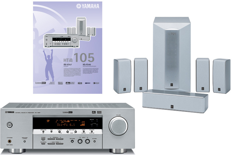Yamaha htib 105 rx v357 ns p240 receiver set mit for Yamaha htib review