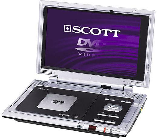 scott dpx i 102 tragbarer dvd player tests erfahrungen. Black Bedroom Furniture Sets. Home Design Ideas