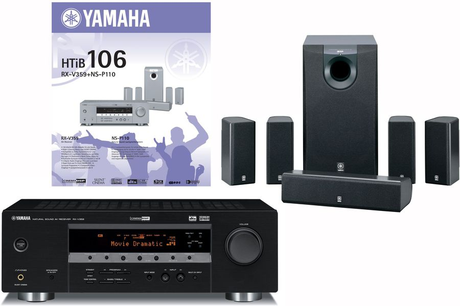 Yamaha htib 106 rx v359 ns p110 receiver set mit for Yamaha htib review