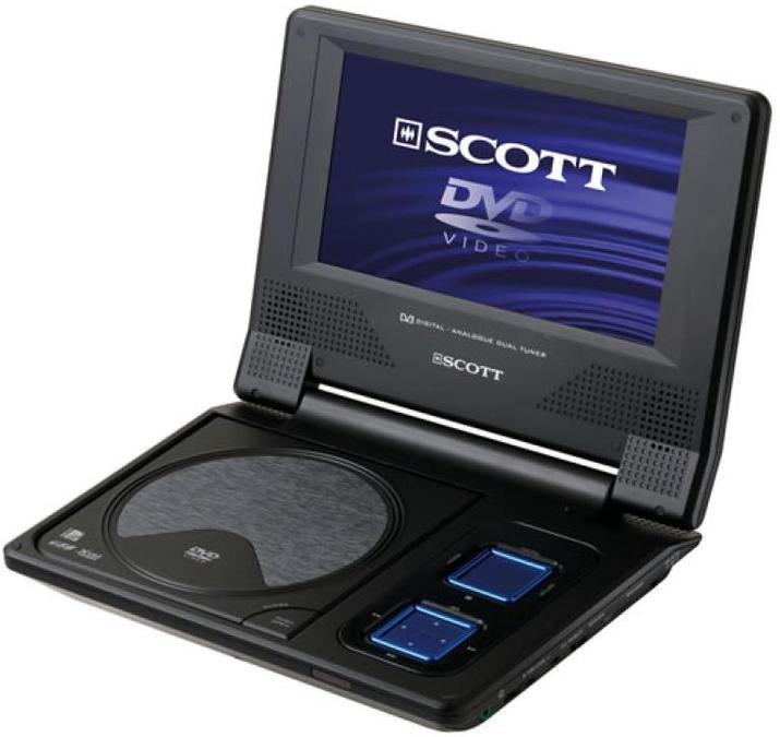 scott dpx i799htv tragbarer dvd player tests. Black Bedroom Furniture Sets. Home Design Ideas