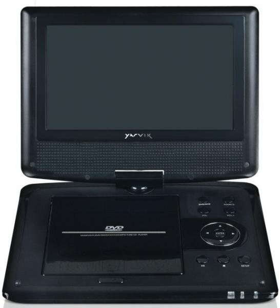 yarvik pdv109 tragbarer dvd player tests erfahrungen im. Black Bedroom Furniture Sets. Home Design Ideas