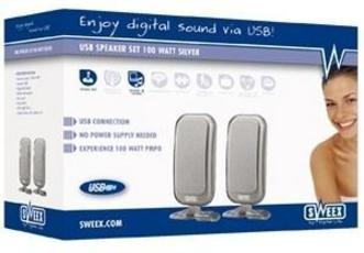 Produktfoto Sweex SP006 USB Speakerset 100 WATT Silver