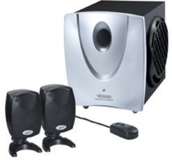 Vivanco SW 2 1 420 Bluelight 2 1 PC Lautsprechersystem: Tests