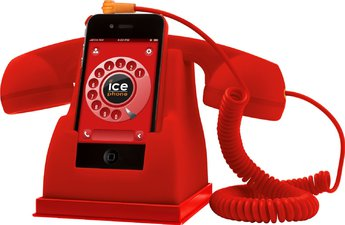 Produktfoto ICE-PHONE Docking Station E Cornetta Stile Retro'
