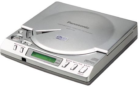panasonic dvd p10ec tragbarer dvd player tests. Black Bedroom Furniture Sets. Home Design Ideas
